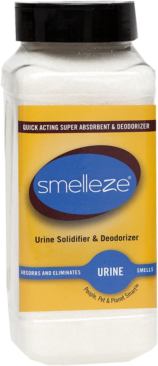 SMELLEZE Urine Super Absorbent, Solidifier & Deodorizer: 2 lb. Granules Rapidly Solidifies Urine & Diarrhea in Pet Loo, Dog Litter Box, Pet Potty Trainer, Portable Urinals/Toilets, Bedpans, etc.: Health & Personal Care