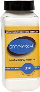 SMELLEZE Urine Absorber, Solidifier & Deodorizer: 2 lb. Granules for Portable Urinals & Bedpans