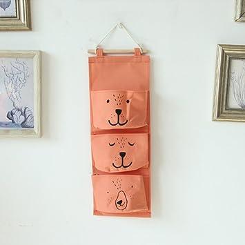 GWELL Sac de Rangement Suspendu Rouge Bébé Poches Organisateur Rétro Mural  en Coton pour Placard/Armoire/Porte-derrière/Chambre Storage, Décoration ou  ...