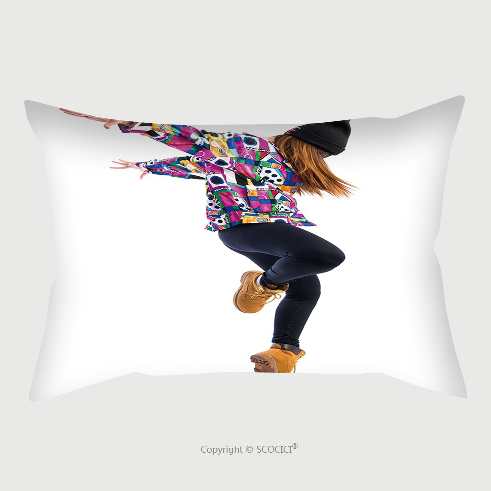 Custom Satin Pillowcase Protector Young Woman Dancing Street Dance 287405363 Pillow Case Covers Decorative