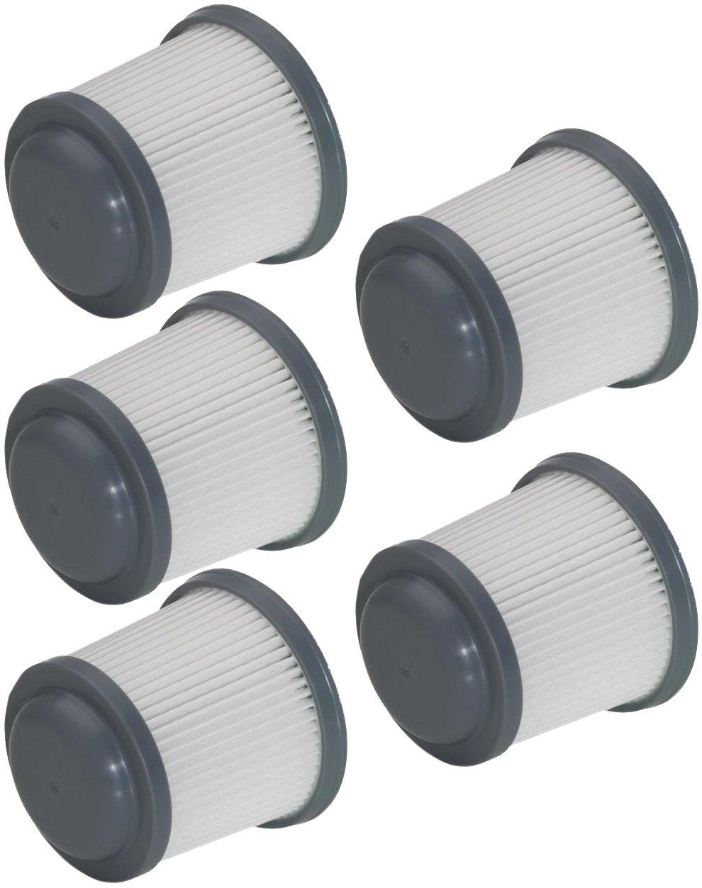Black & Decker PHV1810/PHV1210 Pivot Vac PV110 Filter 5 Pack # 90552433-01-5pk