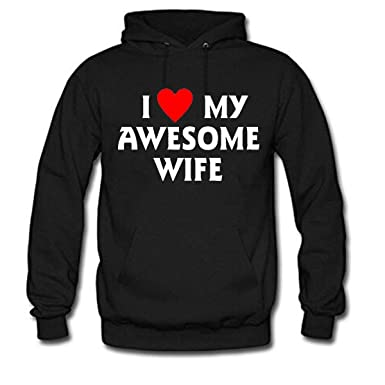 I Love My Awesome Wife Womens Long Sleeve Casual Hoodie At Amazon