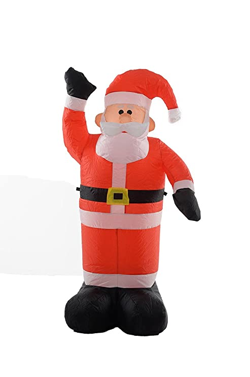 fun 4 foot self inflating illuminated santa claus yard decoration blow up inflatable - Funny Blow Up Christmas Decorations