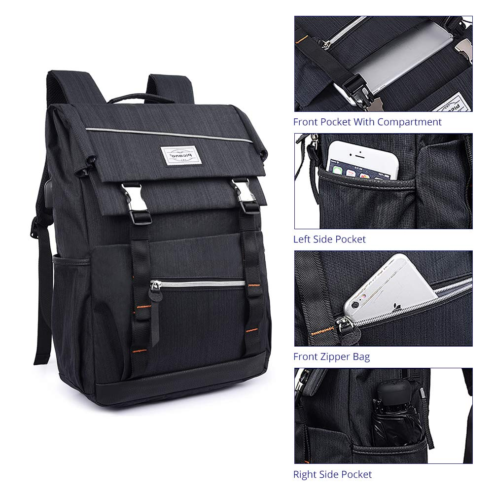 Travel Laptop Backpack,Business,Sports,Waterproof and Non-Slip Durable Laptops Backpack,Water Resistant College School Computer Bag for Women & Men Fits 17/15.6/15 Inch Laptop (15.6 Inch)