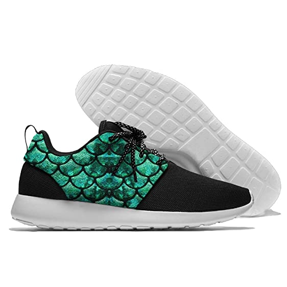 Men's Running Mermaid Shoes Fashion Breathable Sneakers Mesh Soft Sole Casual Athletic Lightweight