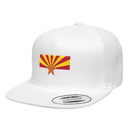 53a679b4f2a Amazon.com  Chicago Flag Hats Arizona State Flag Premium Classic Snapback  Hat 6089M - White  Sports   Outdoors