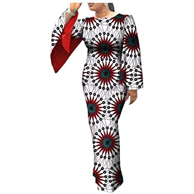 7db1497902b09 African Dresses for Women Party Wear for Girls Women Wax Print Ball Gown  Cocktail Church Attire