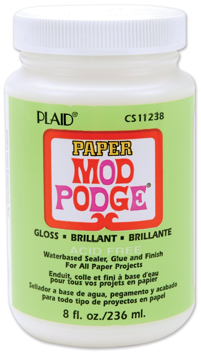 Mod Podge Gloss Waterbase Sealer, Glue Paper (8-Ounce), CS11238 Finish, 8 Ounce, 8 Fl Oz