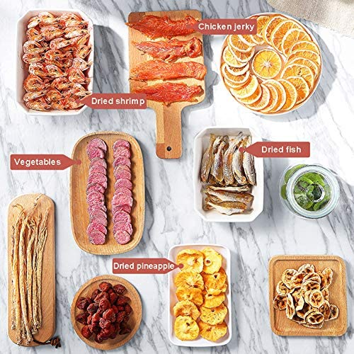 Eten Dehydrator met Temperature Controller, Multi-Tier Eten Preserver Fruit Droger voor groenten, vlees, paprika, BPA-vrij (5 Tray)