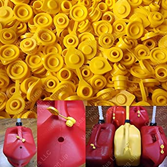 Universal Plastic Yellow Gas Diesel Water Fuel Can Jerry Jug Air Vent Cap