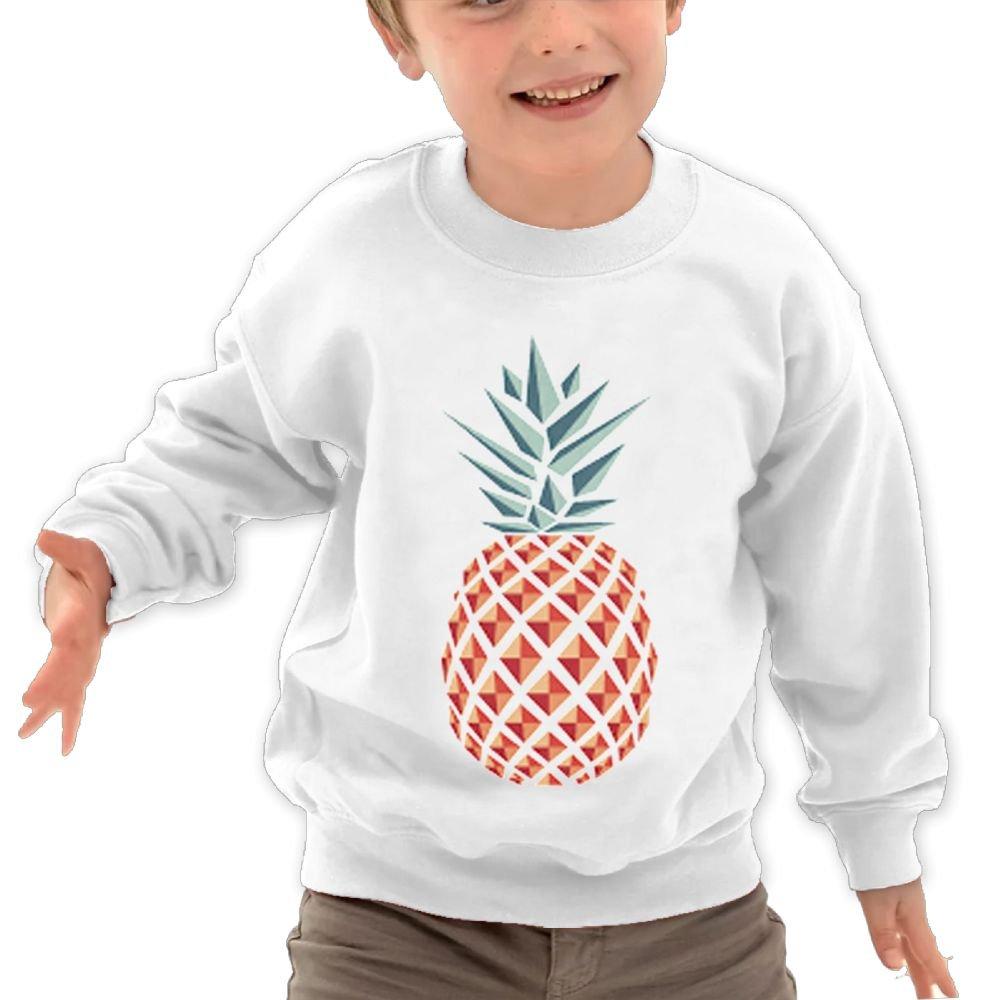 Anutknow Diamond Pineapple Pattern Childrens Round Neck Soft Hoodies Sweatshirt