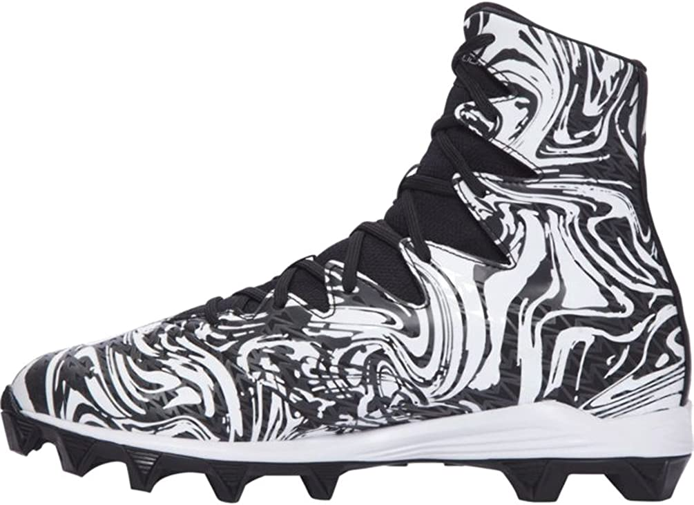 Under Armour Kids Highlight Lux RM Jr Football Cleats 2 Little Kid M, Black//White Lux
