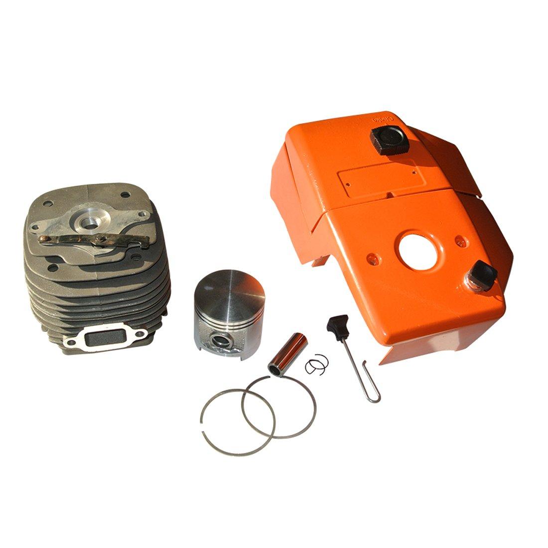 Kit Cilindro per pistone da 58 mm e Copertura per Cilindro Motosega per STIHL 070 090 Ruichang
