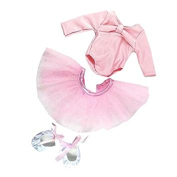 MagiDeal Puppenkleidung Ballett Tanz Anzug Satz Bekleidung für 18 ...