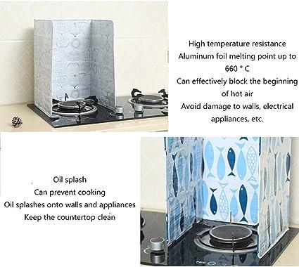 WJX 2 Piezas de Cocina casera A Prueba de Aceite Deflector, Evitar la Salpicadura de Aceite de Cocina Herramientas de Cocina de Papel de Aceite de bafle Caliente (84x38.5 cm): Amazon.es: Hogar