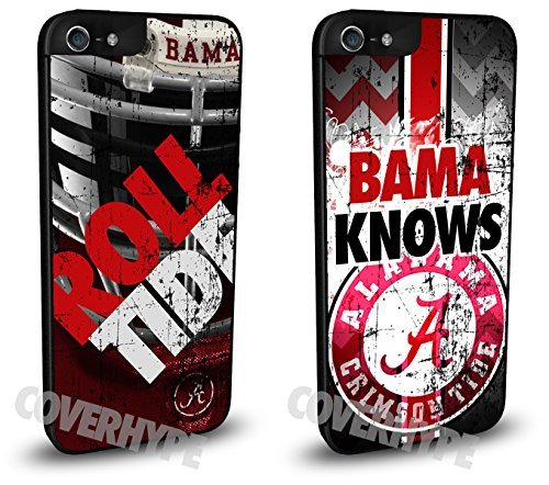 Alabama Crimson Tide Cell Phone Hard Plastic Case TWO PACK for iPhone 6 Plus (5.5 inch)