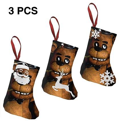 49524b453 Amazon.com  HCZHUCK Cute FNAF Fre-ddy Bear Christmas Holiday ...