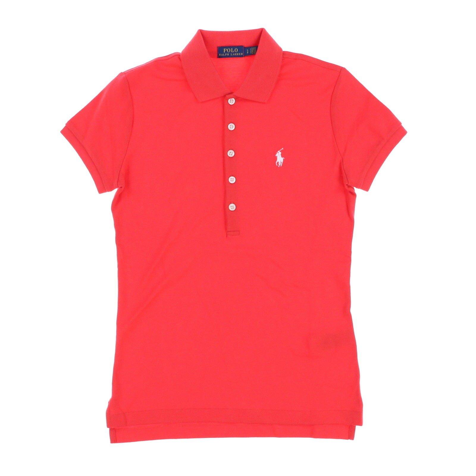 Polo Ralph Lauren Womens Polo Shirt (Medium, Coral)