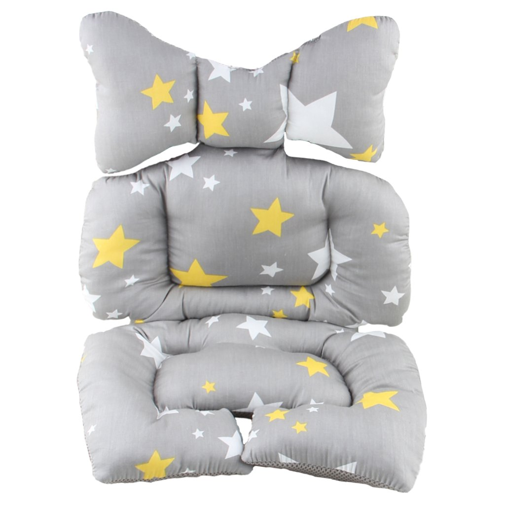 Infant Head Body Support Pillow,Kakiblin Cotton Baby Seat Pad for Car Seat & Stroller, Star