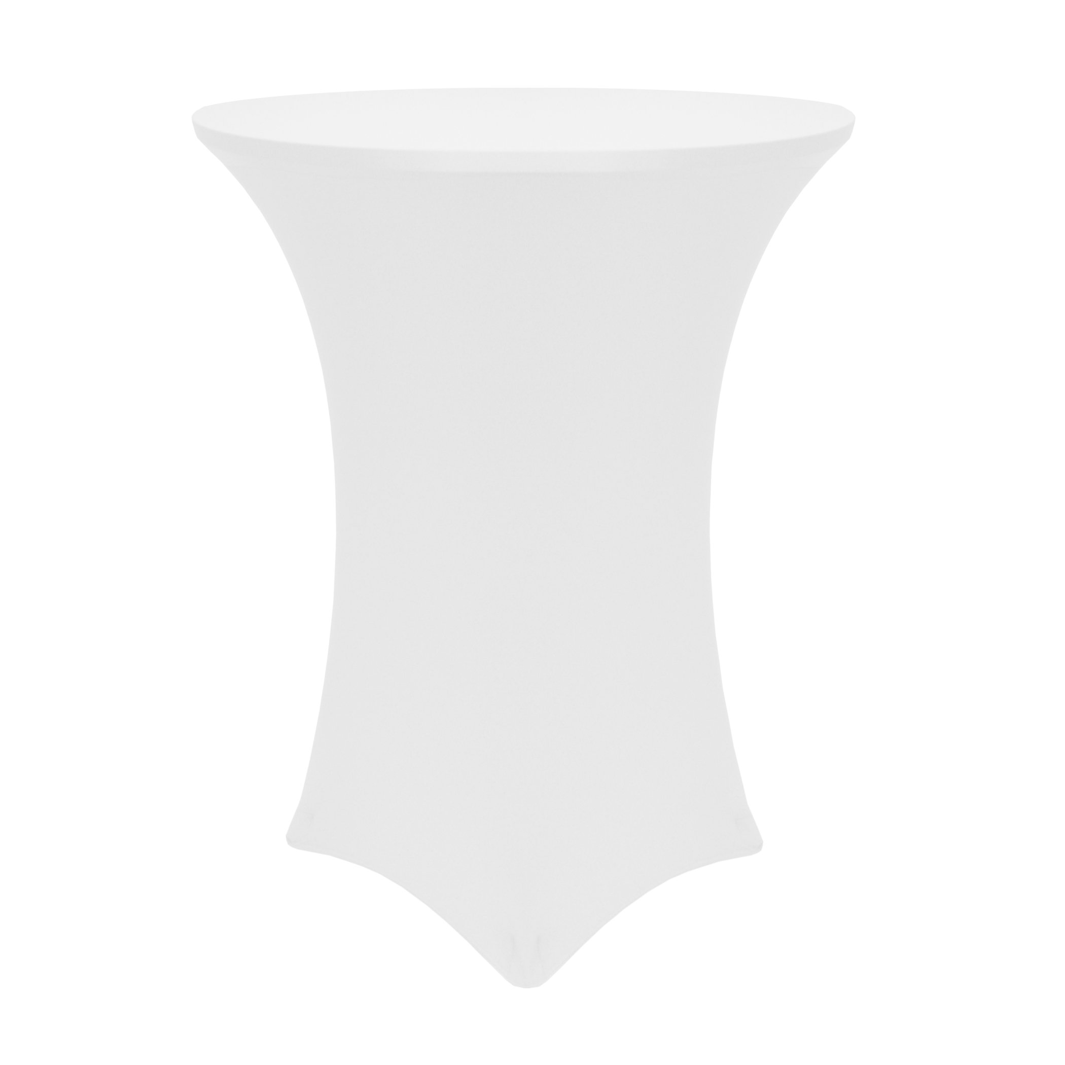 Ultimate Textile (5 Pack) 30-36-Inch Round Cocktail Spandex Fitted Stretch Elastic Tablecloth - for 42'' High Tables, White