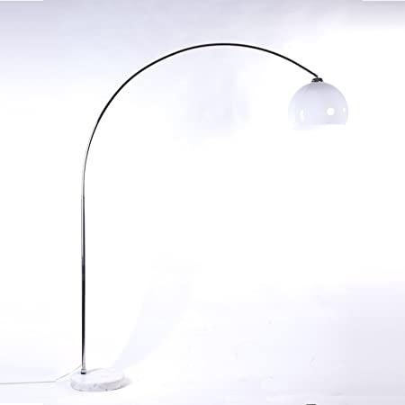 Big Bow Retro Design Height Adjustable Lounge Floor Lamp White