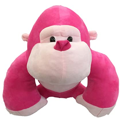 Amazon Com Dan Dee Hot Pink Big Ape Love Monkey Plush 13 Inch
