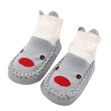 Suekq - Zapatillas de bebé Recién Nacido, Calcetines con Diseño de Oso de Peluche,