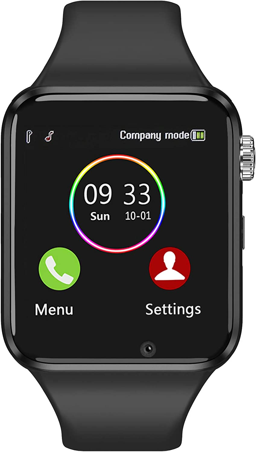 Smart Watch for Android Phones Compatible with iPhone Samsung, Sazooy Fitness Tracker Touch Screen Bluetooth Smartwatch with Sim SD Card Slot Camera Support Calls Messages for Women Men Kids (Black)