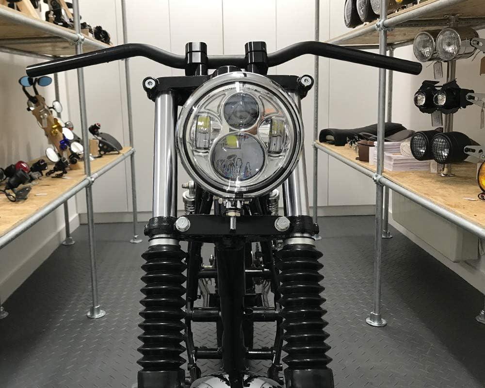 Motorrad LED Scheinwerfer 5.75  Bates Stil Daymaker Cree f/ür Vintage Retro Individuell Projekt