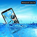 Samsung Galaxy Note 8 Case IP68 Waterproof Shockproof Snowproof Dustproof for Samsung Galaxy Note 8 Full-Body Rugged Case with Built-in Screen Protector & Kickstand
