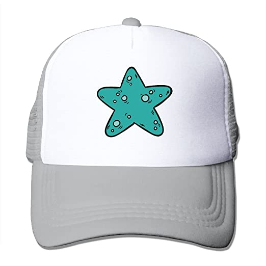 Starfish Beach Summer Baseball Caps for Men and Women with Adjustable Snapback Strap