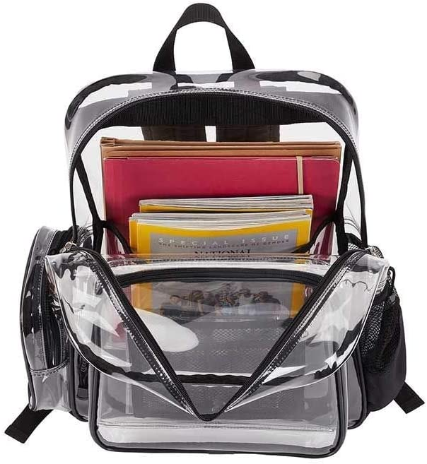 Officially Licensed NCAA Dimension Backpack Clear 16.5 x 5 x 12 inches
