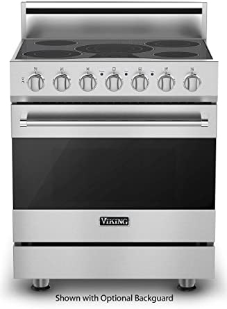 viking electric cooktop. Viking RVER33015BSS 3 Series 30 Inch Freestanding Electric Range With Elements, Smoothtop Cooktop, In Cooktop D