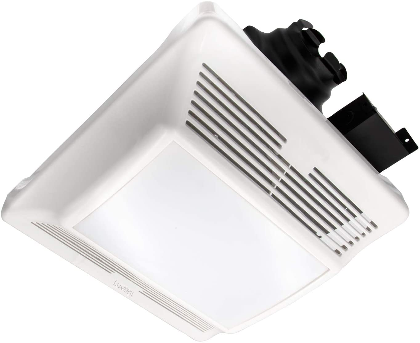 Luvoni 90 CFM Bathroom Exhaust and Ventilation Fan with Light, 1 Sones Quiet Operation, Ceiling Fan with Built in LED Light, White Grill, by Maxxima
