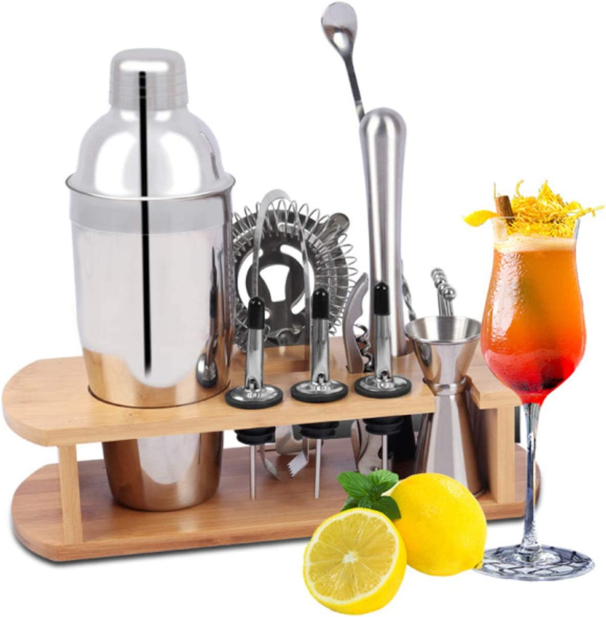 Innotic Cocktail Making Set 16 PCS Professional Stainless Steel Built-in Shaker WAS £19.99 (£17.99 PRIME) NOW £9.99 (£8.99 PRIME) w/code AK2QQ6SB @ Amazon