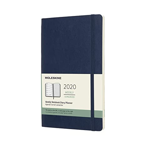 Moleskine Classic 12 Month 2020 Weekly Planner, Soft Cover, Large (5