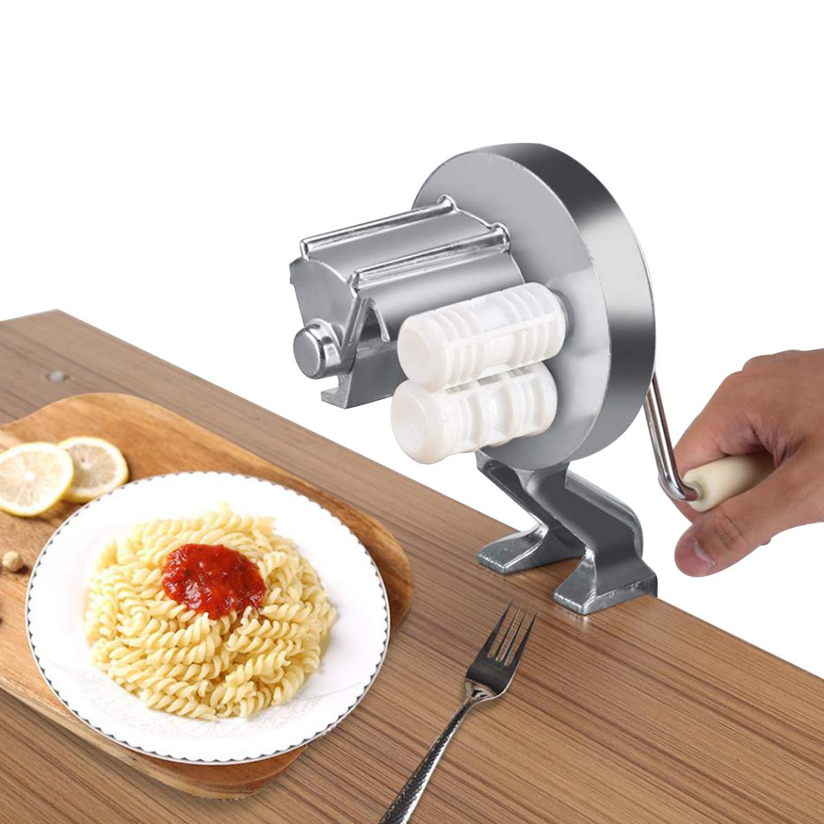 Choppan Manual Pasta Seashells Maker Machine Authentic Cavatelli Metal in Kitchen, White by Choppan