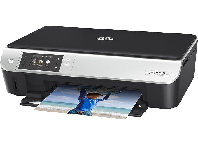 HP ENVY 5532 - Impresora multifunción (Inyección de tinta, Color, Color, 8,8 ppm, 4800 x 1200 DPI, 5,2 ppm) Negro, Plata