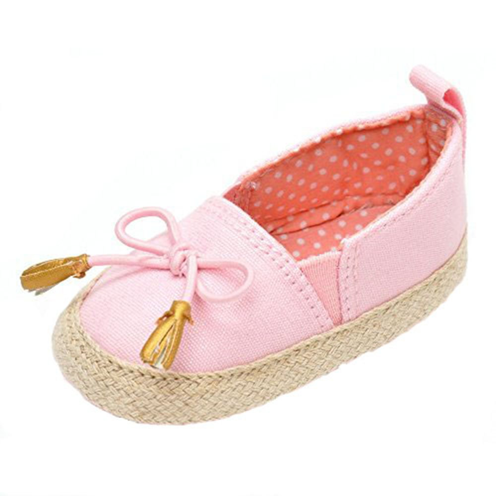 Estamico Baby Girl's Bowknot Moccasins Shoes Toddler Loafers Flat Boat Shoes