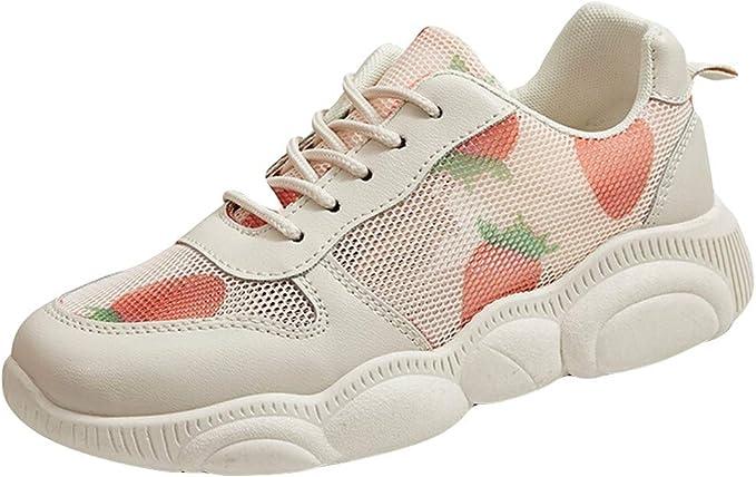 Zapatillas para Mujer Deportivo Verano Plataforma Cuña Merceditas ...