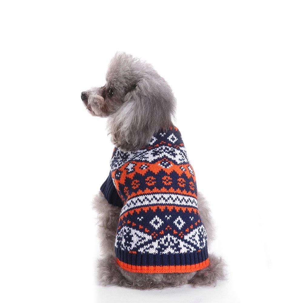 2 patrones de punto nórdico suéter de perro, prendas de vestir ...