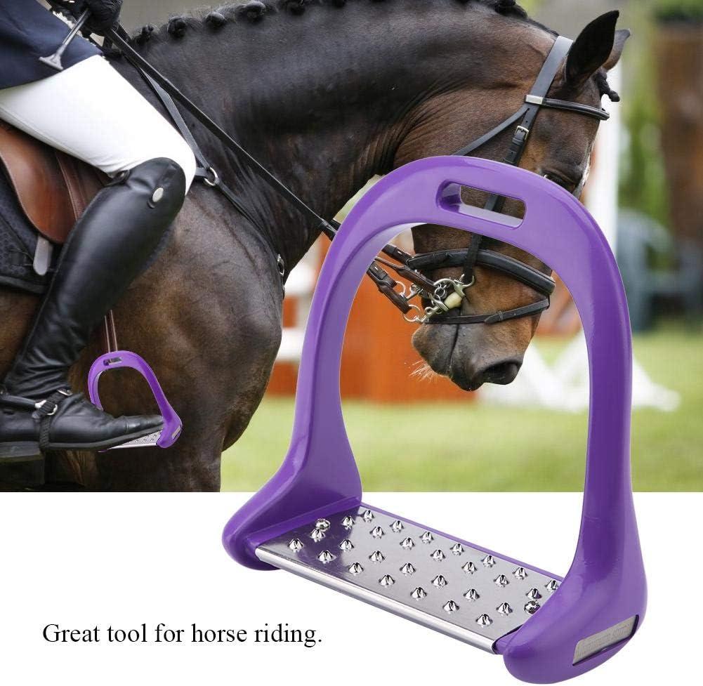 Yosooo Horse Riding Stirrups Aluminum Stirrup with Stainless Steel Anti-Slip Pad for Equestrian Saddle