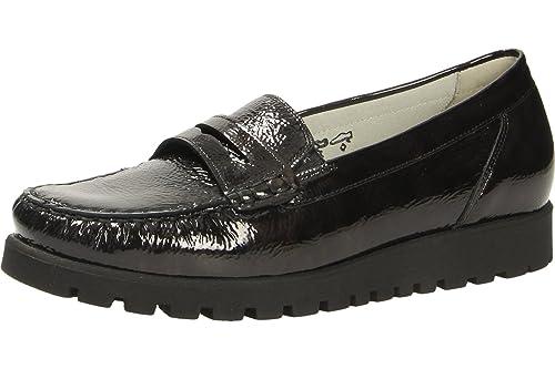 Waldläufer 549002 143 024 - Mocasines de charol para mujer, color Marrón, talla 37: Amazon.es: Zapatos y complementos