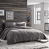 Kenneth Cole Reaction Home Full Queen Size Quilted Coverlet from the Reflections Bedding Collection in a Gunmetal Color