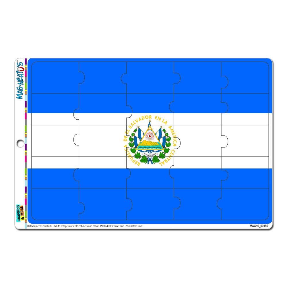 Graphics and More El Salvador Flag MAG-NEATOS Novelty Gift Locker Refrigerator Vinyl Puzzle Magnet Set