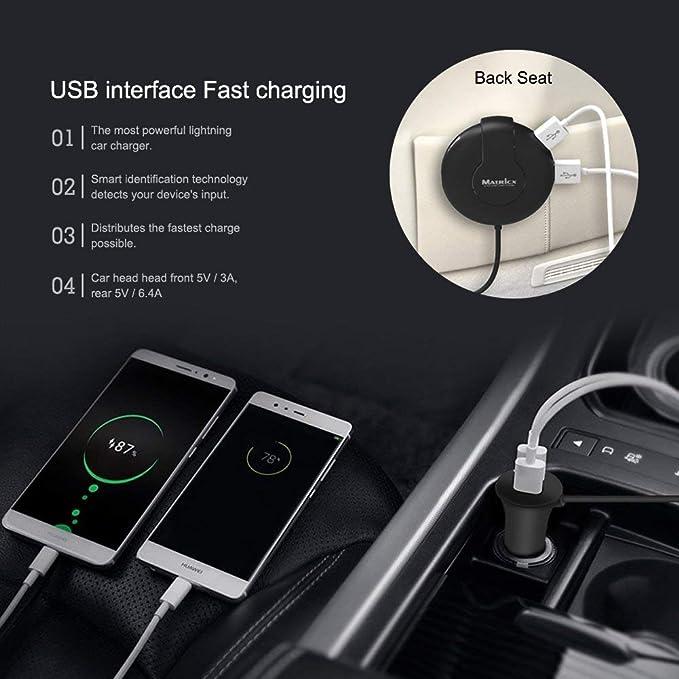 6-Port Extender USB Adaptateur De Chargeur De Voiture Universel Rapide Chargeur De Voiture pour Android IOS Cam/éra iPad 5V 9A 45W Voiture Allume-Cigare Adaptateur