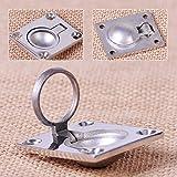 2Pcs 316 Stainless Steel Ring Handle Flush Hatch Locker Cabinet Pull Lift Boat Marine