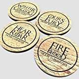 Game of Thrones - White Oak Vynil Drink Coaster set of 4