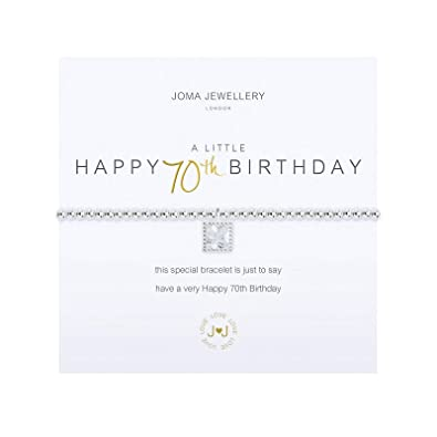 fe281ee8b5 Joma Jewellery a little Happy 70th Birthday Bracelet: Amazon.co.uk:  Jewellery