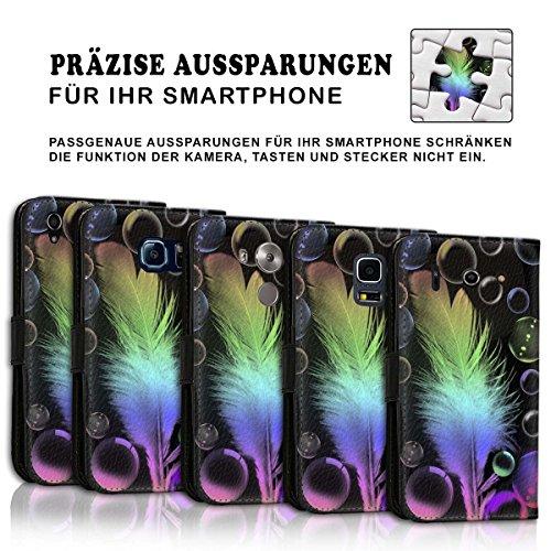 Wallet Book Style Flip Handy Tasche Case Schutz Hülle Schale Motiv Etui für Apple iPhone 4 / 4S - Design Flip MV201